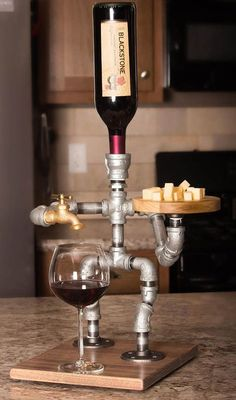 Quirky wine dispenser! The Man Cave butler, would look great in a Man Shed or She Shed.