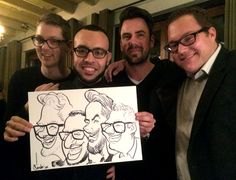 Live optreden bedrijfsfeest - De Karikaturist