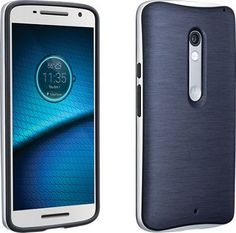 Verizon Soft Cover with Bumper for DROID Maxx 2, Blue