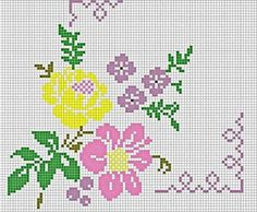 Here you can look and cross-stitch your own flowers. Cross Stitch Borders, Cross Stitch Rose, Cross Stitch Flowers, Cross Stitch Designs, Cross Stitch Embroidery, Embroidery Patterns, Cross Stitch Patterns, Ribbon Embroidery Tutorial, Free To Use Images