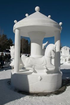 snow sculptures | Snow sculpture