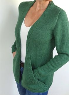 Ravelry: Cross Pockets pattern by von Hinterm Stein