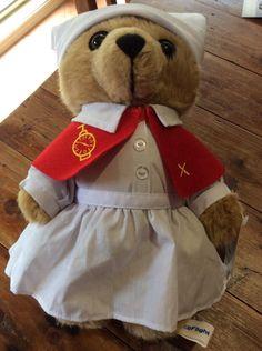 NRMA careflight bear Care Flight Teddy Bear Florence Nurse Collectable As Is