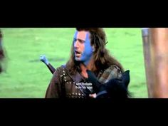 Braveheart When his secret bride is executed for assaulting an English soldier who tried to rape her, William Wallace begins a revolt and leads Scottish warriors against the cruel English tyrant who rules Scotland with an iron fist. William Wallace, Motivational Videos, Inspirational Videos, Motivational Speeches, Mel Gibson, Top Movies, Great Movies, Movie Speeches, Hearts