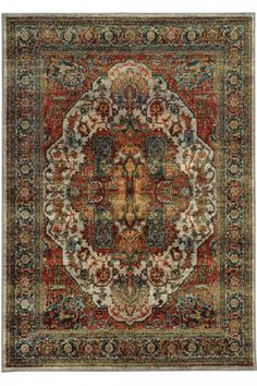 Flanders Area Rug - Synthetic Rugs - Patterned Rugs - Traditional Rugs - Machine-made Rugs - Border Rug   HomeDecorators.com