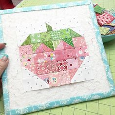 """Scrappy Strawberry"" block from Farmgirl Vintage"