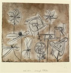 Paul Klee (Swiss, 1879 - 1940)  - Flowers in Motion (Bewegte Blüten), 1926