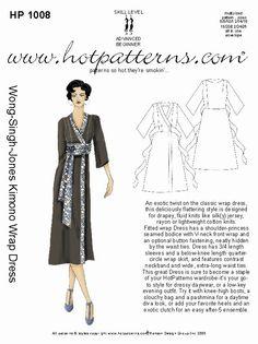 HP 1008 Wong-Singh-Jones Kimono Wrap Dress - HotPatterns.com