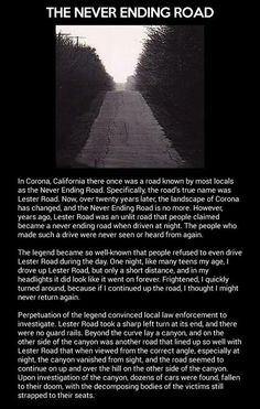 Well, realistically there couldn't have been very many cars down there but this is definitely a creepy story
