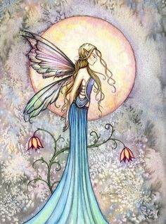 Fairy Art by Fantasy artist Molly Harrison Yesterday's Gone Fantasy Kunst, Fantasy Art, Fairy Drawings, Moon Fairy, Unicorns And Mermaids, Fairy Pictures, Mermaid Coloring, Beautiful Fairies, Mermaid Art