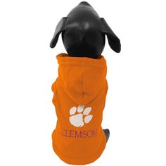 NCAA Clemson Tigers Collegiate Cotton Lycra Hooded Dog Shirt (Team Color, X-Large) -- Read more reviews of the product by visiting the link on the image. (This is an affiliate link) #PetApparel