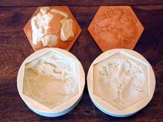 Constructing a Settlers of Catan Board using silicone molds and resin pieces