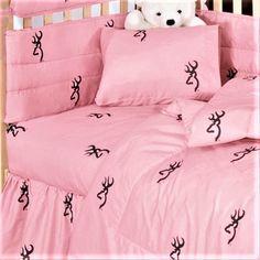 Browning Pink Crib Sheets & Pillow Case - Browning® Baby Bedding