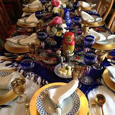 Russian dinner table