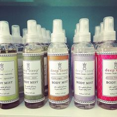 Our #DeepSteep Body Mist's are perfect for a quick spritz to leave your skin feeling refreshed & fragrant! #BodyMist