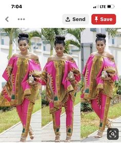 African dashiki top and pant, African women's clothing/ Ankara fashion/ African print/prom dress/Ankara dress/ African clothing/women's wear African Print Dresses, African Wear, African Attire, African Fashion Dresses, African Women, African Dress, African Outfits, Fashion Outfits, Ghanaian Fashion