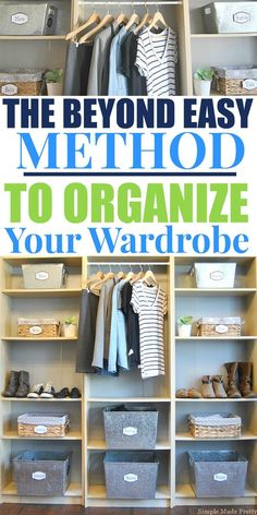 """Let's be real, you have too many clothes. We all do. There is always room to follow the """"less is more"""" guidelines when it comes to clothes. Read How To Reduce (and Organize) Your Wardrobe. Wardrobe capsule, creating a wardrobe capsule, reduce my clothes, organize closet, how to organize clothes, minimalist wardrobe"""