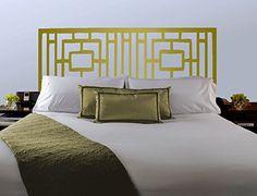 Headboard Patterns geometric pattern headboard decal - moroccan pattern vinyl wall