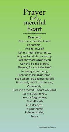 Prayer for a merciful heart