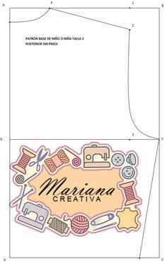 Mariana Creativa: Blusa básica sin pinza para niñ@s.
