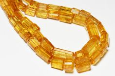 RARE IMPERIAL TOPAZ large beads 18 line from Ouro by ShangrilaGems, £399.95