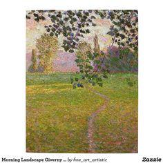 Morning Landscape Giverny Monet Fine Art Jigsaw Puzzle
