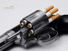 This powerful ad creatively compares smoking to guns.