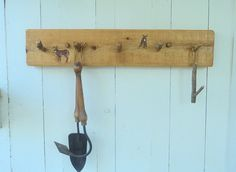 Rustic Cedar Deer Wall Coat Hat Rack Log Cabin Decor