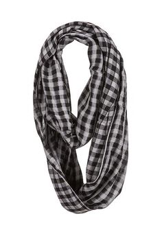 checkered infinity scarf (original price, $16) available at #Maurices