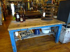 Work table solid wood great for a kitchen.