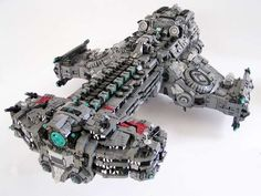 Blocky Sci-Fi Spaceship Models -  This LEGO Hyperion Battlecruiser Recreates StarCraft 2 Vehicle #starcraft #design #lego