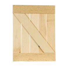 "Rustic Pallet Door   Walnut Hollow - Craft Dimensions: 13.25"" x 17"" x  0.67"" $ 12.99"