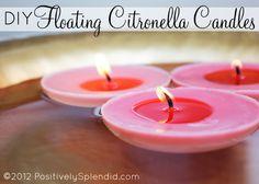 DIY Floating Citronella Candles