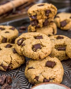 These drool-worthy, oil-free Vegan Peanut Butter Chocolate Chip Cookies are a delightful guilt-free treat that is sure to please. #wholefoodplantbased #vegan #oilfree #glutenfree #plantbased | monkeyandmekitchenadventures.com Peanut Butter Roll, Vegan Peanut Butter, Chocolate Peanut Butter, Chocolate Chip Cookies, Vegan Baking Recipes, Whole Food Recipes, Dessert Recipes, Vegan Party Food, Dessert Bread