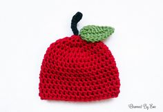 free preemie apple hat crochet > I really like the stem and leaf from this pattern. I've also been working on making a bunch of preemie hats for #projectpreemie #preemiesneedlovetoo