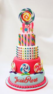 Buttercream Buzz: Candyland Inspired Birthday Cakes