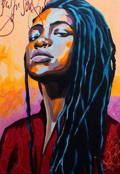 Black art (prints, panes, and pics) do it for the culture. Black Girl Art, Black Women Art, African American Art, African Art, Dope Kunst, Poster Photo, Black Art Painting, Hair Painting, Urbane Kunst