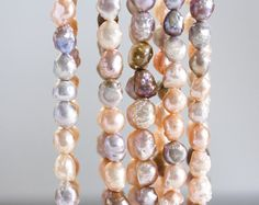 1351_Multicolor pearls 7-9 mm, Pastel pearls, Baroque pearls, Natural pearls, Freshwater pearl, Pearls multicolor, Jewelry pearls, Beads.