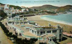 Postales de San Sebastián: Balneario de la Perla y Miraconcha