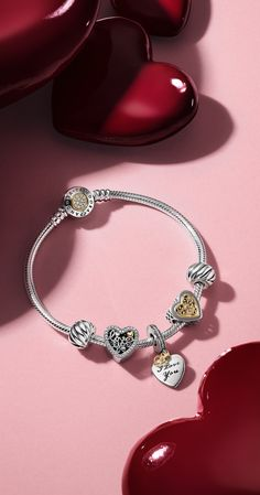 Charms, Bracelets and Rings Pandora US - - . - Charms, Bracelets and Rings Pandora US – – … – Charms, br - Pandora Bracelet Gold, Pandora Jewelry, Sterling Silver Bracelets, Silver Jewelry, Silver Ring, Cute Jewelry, Charm Jewelry, Bracelet Designs, Belle Photo