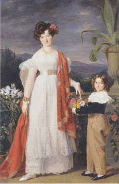 Mrs A von Winiwarter With Her Son by Ferdinand Georg Waldmüller, 1829 Germany, Staatsgalerie Stuttgart  Click for a giant version.