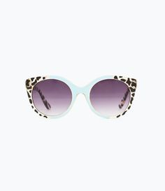 ZARA - DAMES - Tweekleurige zonnebril, dierenprint en hemelsblauw