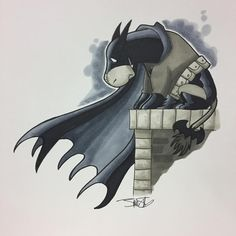 """Oh well, I guess my parents are dead."" So I don't know whose bright idea it was to schedule @newyorkcomiccon during Inktober but it might throw me off dinosaurs with hats for a few days. In the meantime here's Eeyore as Batman. #batman #eeyore..."