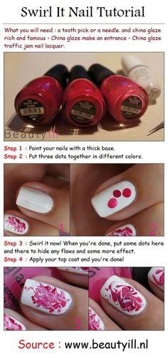Swirl Pink Nail Art Style Tutorial