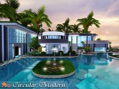 Circular Modern House by Autaki - Sims 3 Downloads CC Caboodle