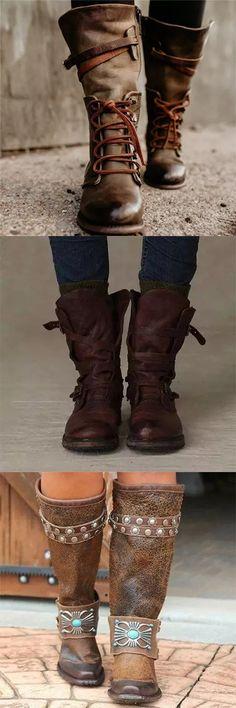Riding Boots, Combat Boots, Bootie Boots, Shoe Boots, Mode Shoes, Mode Style, Fashion Boots, Fashion Outfits, Fashion Clothes