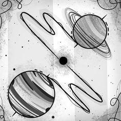 #illustration #space #conjuncionjupitersaturno #jupiter #saturn #stellar #ilustracion #digitalart #medibangpaint