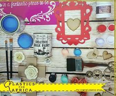 Get a little creative with this stunning range of chalk paint from #PlasticsforAfrica. Visit your nearest branch today! #Craft