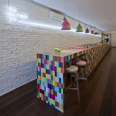 The Gourmet Tea - Very nice tea shop in Sao Paulo, Brazil - love the colors as a paint project!