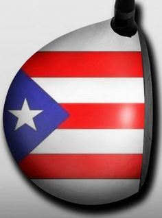 Personalized golf driver decal by Big Wigz Skins - Puerto Rico Flag.  Buy it @ ReadyGolf.com